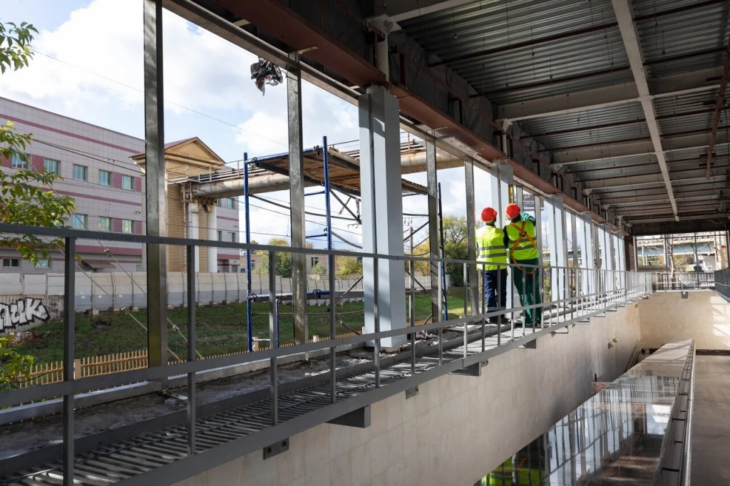 Современные навесы установят на входах на станцию «Беговая» к запуску МЦД