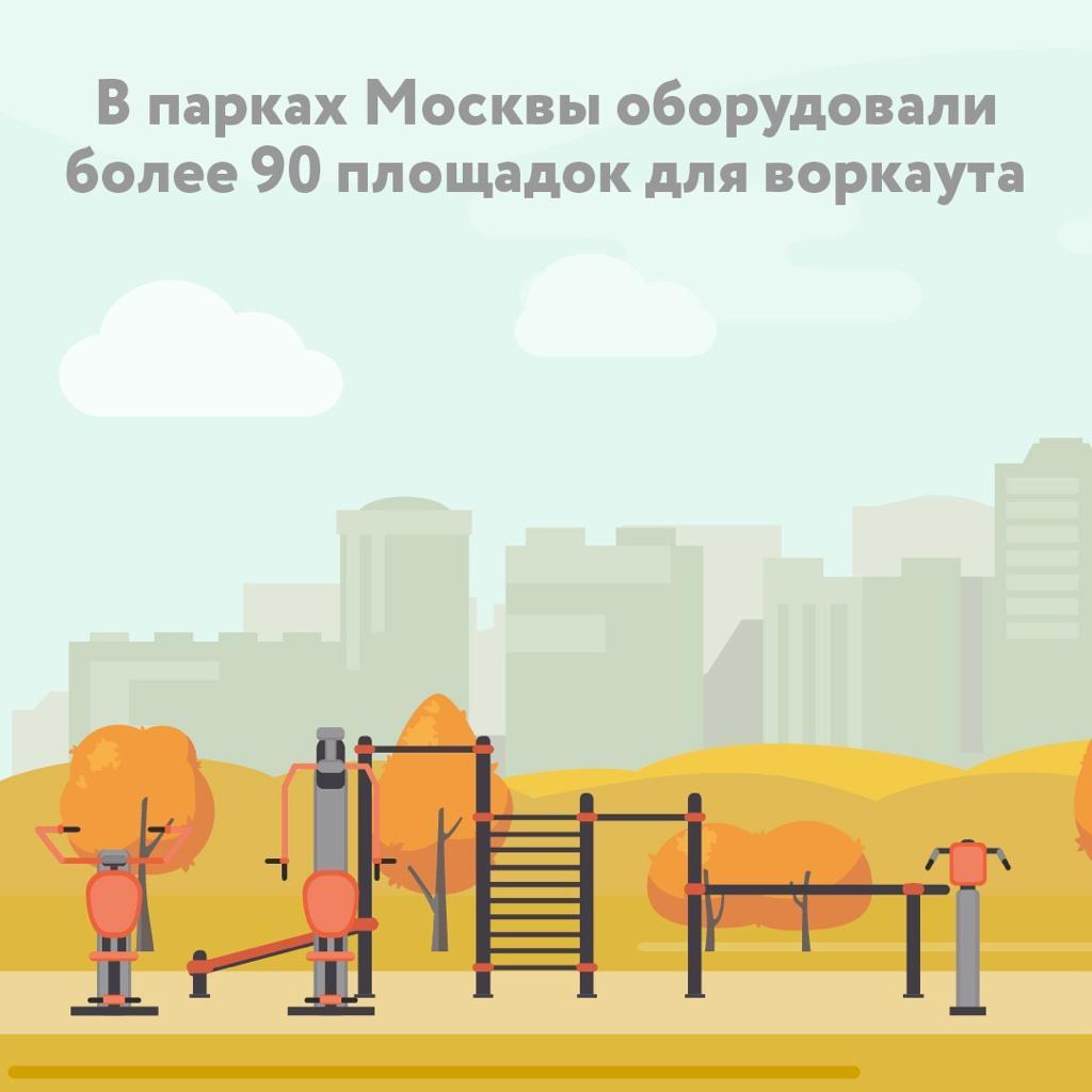 Городские парковые зоны оборудовали спортивными площадками